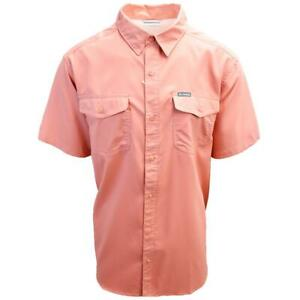 Columbia-Men-039-s-Dark-Coral-Utilizer-II-Solid-Short-Sleeve-Shirt-Retail-60-00