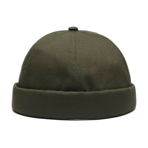 Unisex Men Skullcap Sailor Hat Cap Beanie Hip Hop Retro Cuff Brimless Cotton