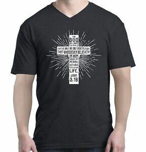 John-3-16-Bible-Verse-Cross-Men-V-Neck-Christian-Jesus-Gospel-Shirts