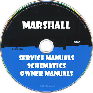 Details about Marshall Repair Service Manuals & Schematics PDFs manuals on  DVD Huge Set
