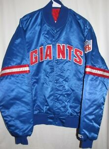 big sale 92921 582b4 Details about Vintage NEW YORK GIANTS Authentic Pro Line STARTER JACKET XL