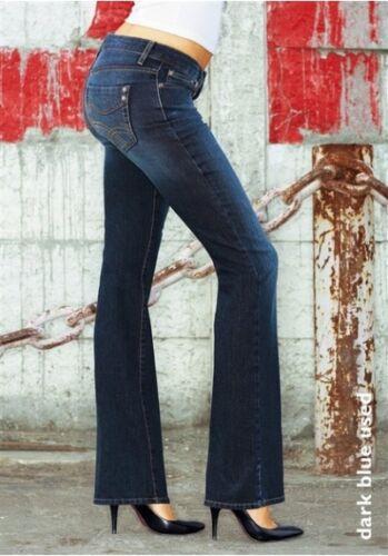 Svasati Gr Donne Arizona Blu Nuovo Jeans Pantaloni L32 Tratto Usato Di Scuro 36 4q5nCSw