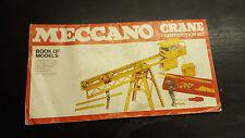 VINTAGE MECCANO 1978 Set costruzione Gru libro dei modelli manuale
