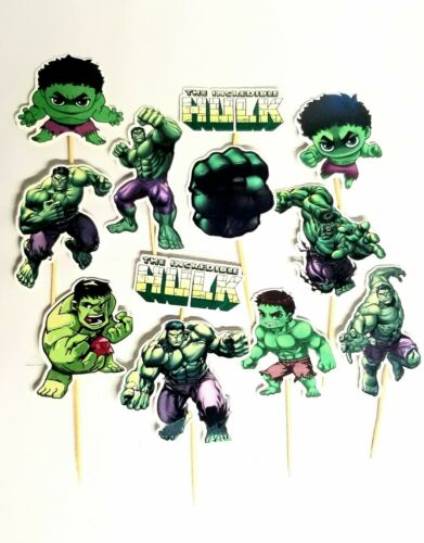 AVENGER HULK CAKE TOPPERS CUPCAKE BALLOON SUPPLIES DECORATIONS