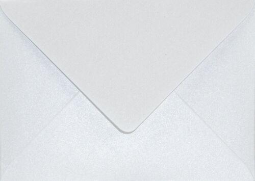 25 Perlmutt-Weiß Briefhüllen DIN B6 ohne Fenster Aster Metallic Perlmutt-Glanz