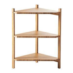 IKEA RAGRUND Waschbeckenregal Eckregal aus Bambus Badezimmer Regal ...