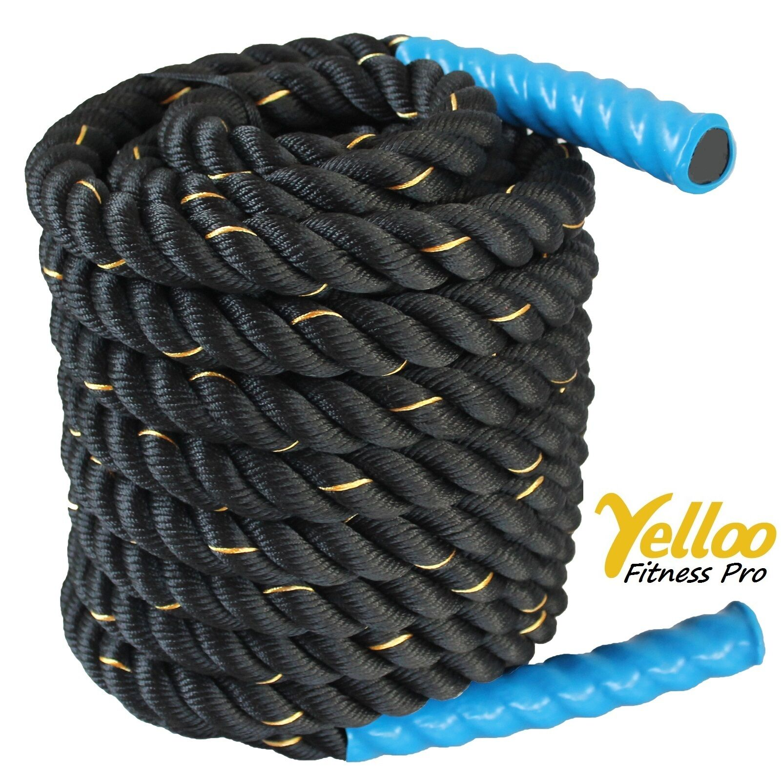 CORDA Fitness Allenamento FUNE Power CrossFit Battle Rope 15 metri x 38 mm bleu