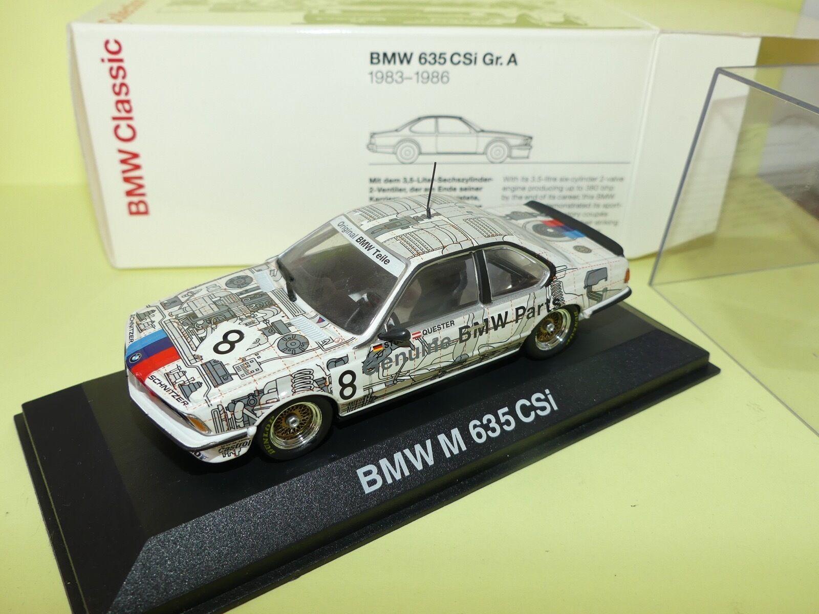 BMW M 635 CSi Gr.A N°8 Stuck Quester MINICHAMPS 1 43