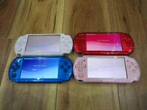 Sony-PSP-3000-Console-White-Blue-Pink-Red-Lot-of-4-piece-Japan-m702