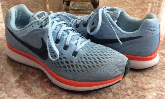 huge selection of 7d3b1 dc945 Nike Womens Air Zoom Pegasus 34 Running Shoes Size 9 Ice Blue 880560 404