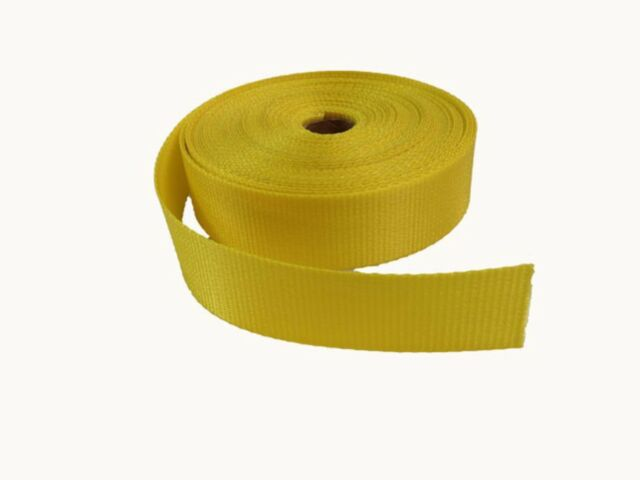 Webbing - Polyester - 38mm - Yellow - 10mtr lengths Army & Military