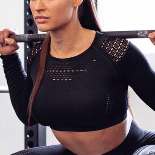 Women Sports Gym Seamless Yoga Suit 2Pcs Crop Bra Tops Leggings Pants Fitness