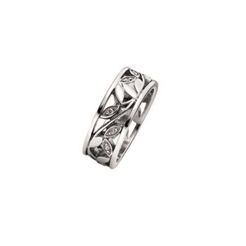 """Breite 7,0 mm MAGNETIX Ring 2949 /""""Olivenzweig Edelstahl/"""" Magnetschmuck"""
