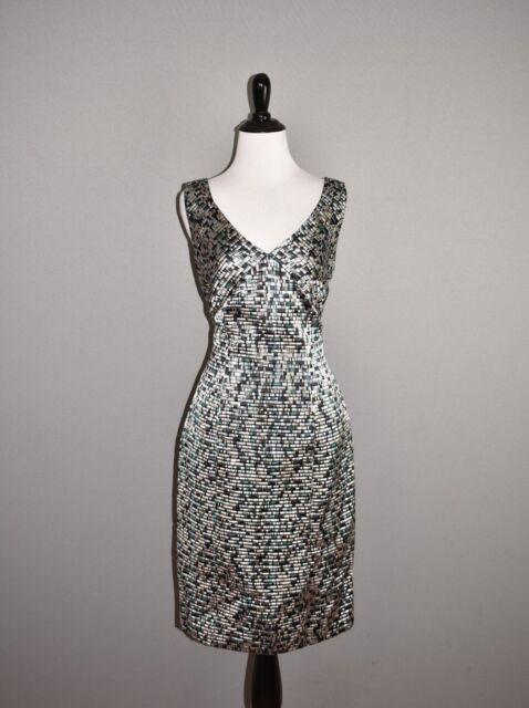 HUGO BOSS NEW $695 Distripy Jacquard Ponte Sheath Dress Size 4