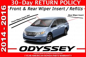 Image Is Loading New Genuine Honda Odyssey Wiper Refill Set 2017