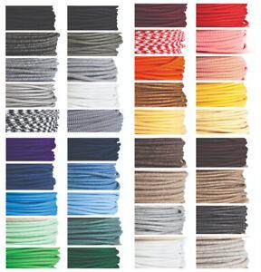 Brillant Câble De Tissu De Couleur éclairage Câble Flex-italien-vendu Par Mètre-afficher Le Titre D'origine