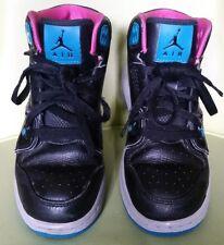 3a4bc8cd89886c item 4 NIKE AIR JORDAN 1 FLIGHT 2 Sneakers Youth Size 5.5 Black Teal Gray  Pink -NIKE AIR JORDAN 1 FLIGHT 2 Sneakers Youth Size 5.5 Black Teal Gray  Pink