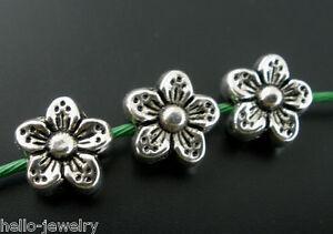50-Neu-aelter-Silber-Spacer-Perlen-Beads-Metall-Perlen-9x9mm
