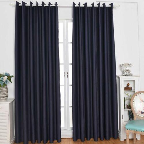 Washable Blackout Room Darkening Window Curtain Eyelet Solid Panel Drapes Door