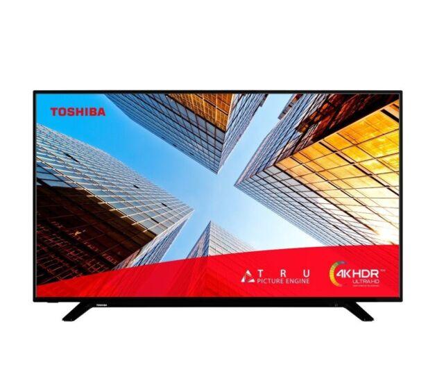 "Toshiba 43UL2063DB 43"" Smart 4K Ultra HD HDR LED TV Freeview Play Black C Grade"