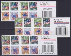 USA-FB-176-3-verschiedene-Typen-Folienblatt-Lot-Forever-postfrisch-MNH