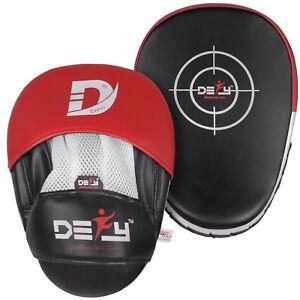 DEFY-Boxing-Focus-Pad-Target-Mitts-Hook-amp-Jab-Punching-Pads-MMA-Muay-Thai-PAIR
