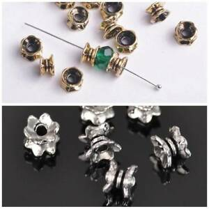 100pcs-7mm-Tibetan-Silver-Loose-Spacer-Metal-Bead-Bracelet-Finding-Charms