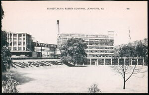 JEANNETTE-PA-Pennsylvania-Rubber-Company-Vintage-B-amp-W-Postcard-Early-Old-PC