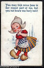 Dutch Kids Girl serie BAMFORTH N° 5 PC Circa 1920 UK Bambina Olandesina