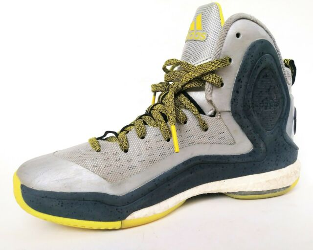 bafecd9b762 ADIDAS D ROSE5 BOOST Metallic Silver Youth Size 6 Shoe Basketball Hi Top  Sneaker