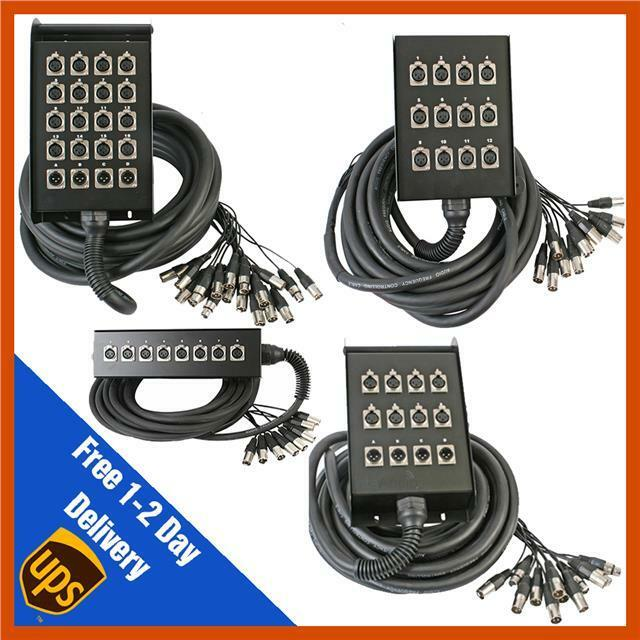 Pulse 10m 15m 30m 40m Tour Grade XLR Multicore Snake Stage Box Wall Mountable