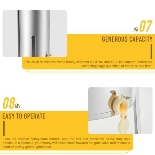 4 Frame Electric Honey Extractor Stainless Steel Beekeeping Honey Bee Drum 140W