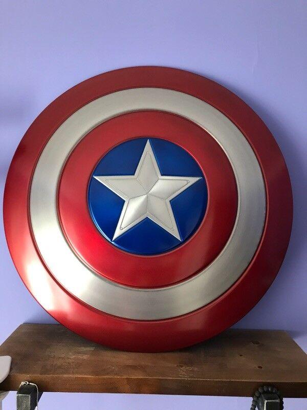 Captain America Shield 1:1 Full Aluminum Metal Shield Cosplay Unpainted/Painted 6