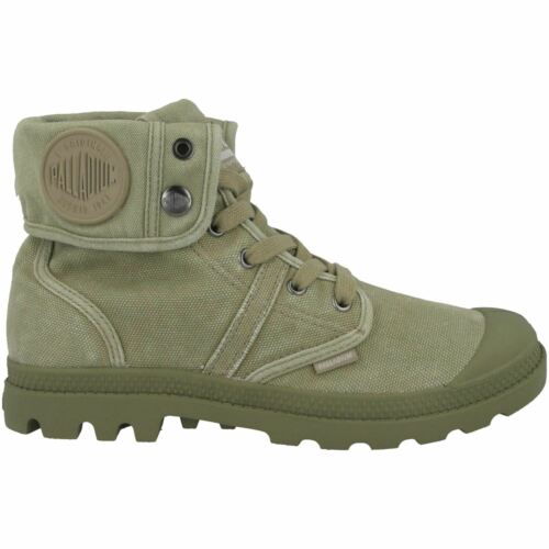 Palladium Pallabrouse Baggy Canvas Womens Boots Vetiver Burnt Olive