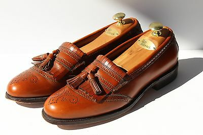 Allen Edmonds 10 B Bridgeton Walnut Slip-On Tassel Kiltie Loafer Shoes - $425.00