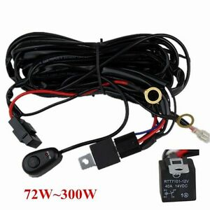 s l300 wiring harness kit 40a 14v on off switch relay for 72w~300w led  at crackthecode.co