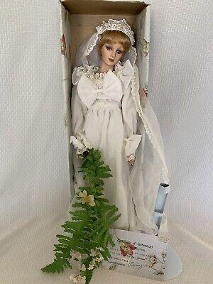 Unique Porcelain Doll Collection Princess Diana Wedding Dress Bride New W Coa Ebay