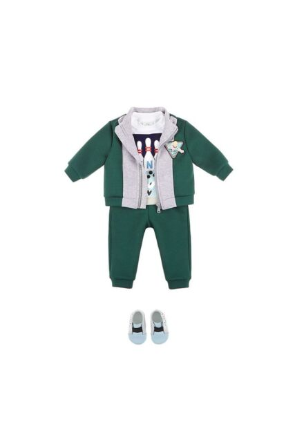 eba9999c5 NWT NEW Fendi baby boys 2pc green and gray tracksuit set 3m