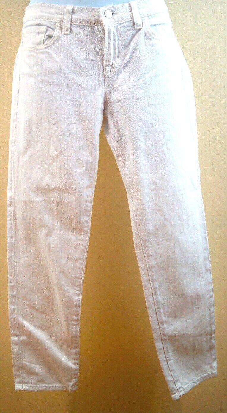 J BRAND Ladies White CAPRI Skinny Cropped Cotton Blend Denim Jeans Sz29