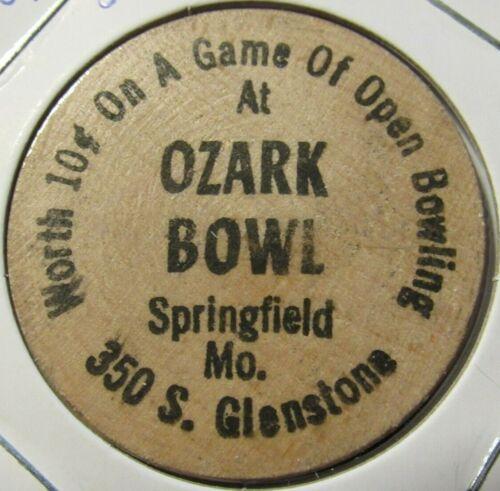 Vintage Ozark Bowl Springfield Token Missouri MO Wooden Nickel