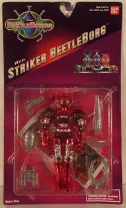 Beetleborgs Red Striker Figure de Beetleborg (neuf sur carte) par Bandai Saban 45557052133