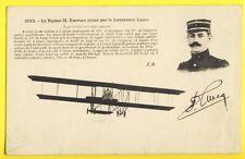 cpa AVIATION BIPLAN FARMAN Type MILITAIRE biplace Piloté par le Lieutenant LUCCA