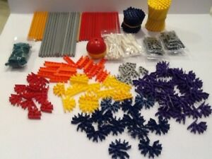 Knex-Lot-of-over-250-Connectors-and-rods