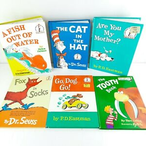 Vtg 80s Dr Suess - 6 Book Lot - Beginner Books Good Condition