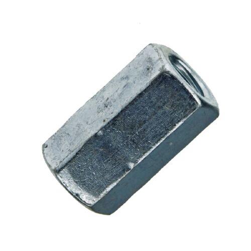 DIN 6334 Stahl galvanisch verzinkt Sechskantmuttern Langmuttern 3 d hoch