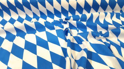 Deko Stoff Rauten Bayernraute weiß//blau Bayern Bierzelt OKTOBERFEST Tischdecke