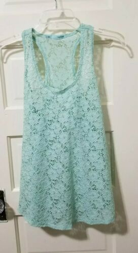 Maurices Tank Top See Through Lace Blouse Shirt L
