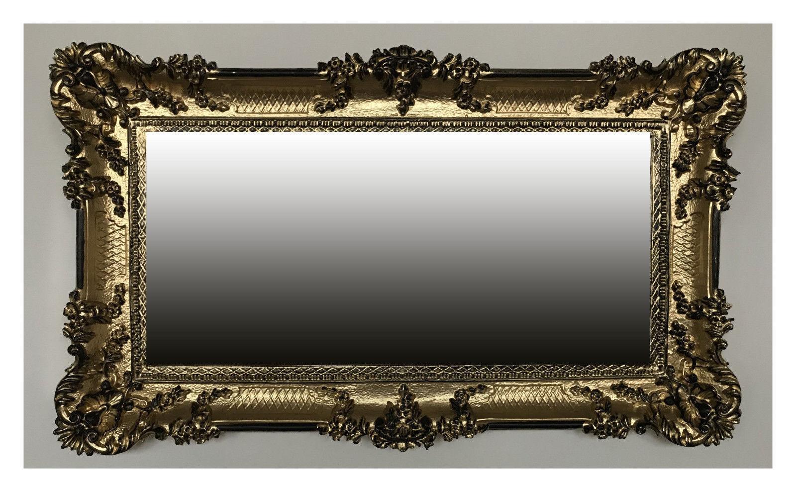 Miroir Mural Mural Miroir Argent 96x57 Antique Baroque Rococo Décoration Murale Luxuriös 6f071b