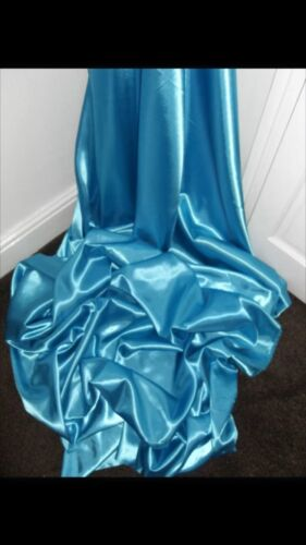 """1 MTR TURQUOISE SATIN LINING FABRIC...58/"""" WIDE"""