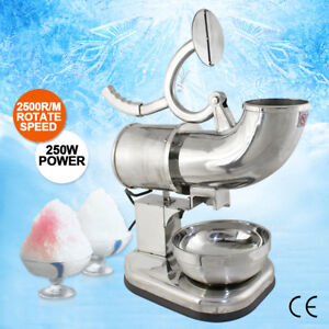 250w-110v-Stainless-Steel-Electric-Ice-Crusher-Snow-Cone-Maker-Shaver